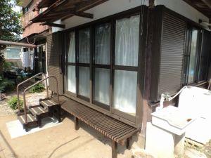 木製窓からアルミサッシに交換