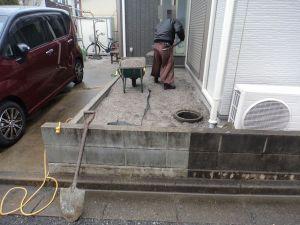 駐輪場工事