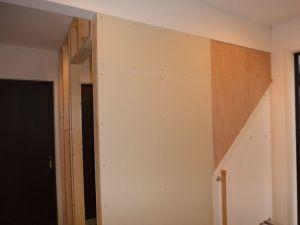 玄関ホール間仕切り壁工事