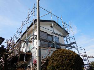 温水器の撤去と屋根塗装